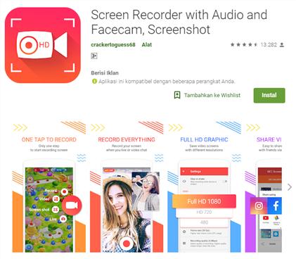 Aplikasi Perekam Layar (Screen Recorder) HP Terbaik di Android