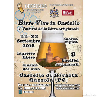 Festival degustazione birre artigianali 22-23 settembre Gazzola (PC)