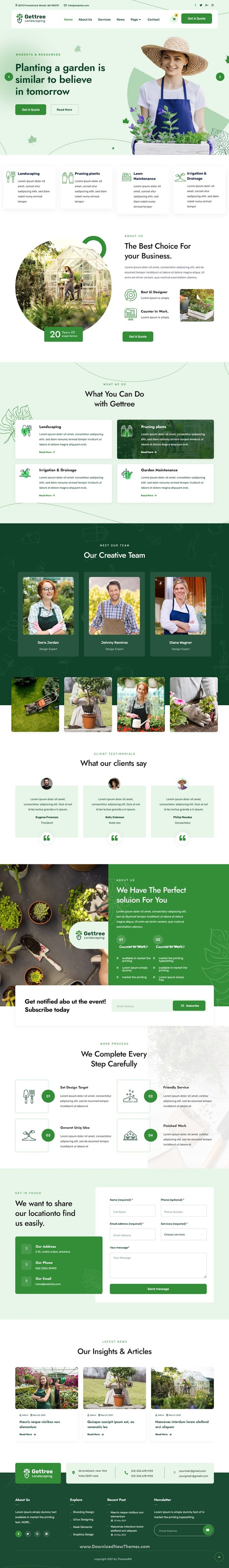 Garden & Landscaping Website Template Kit