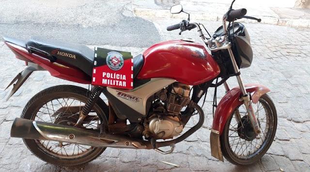 Polícia Militar recupera moto roubada na zona rural de Brejo dos Santos