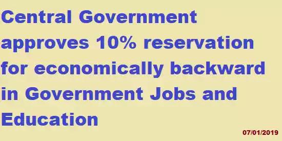 10% Reservation for EWS