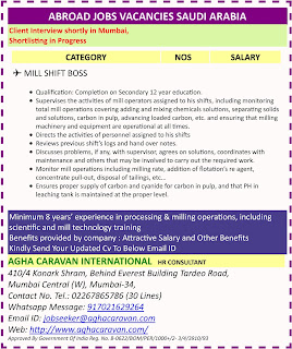 Urgently Required For a Leading Contracting Company in Saudi Arabia text image