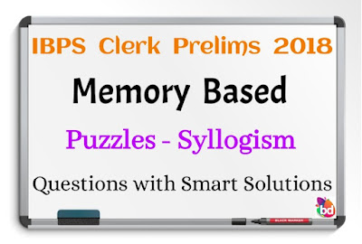 IBPS Clerk Prelims 2018 Memory Based Reasoning Ability Questions with Smart Solutions