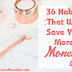 36 Habits That Will Save You More Money
