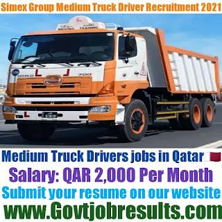 Simex Group Medium Truck Driver Recruitment 2021-22