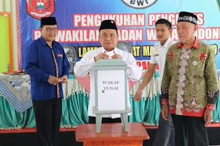 Mad Hasnurin Hadiri Pengukuhan BWI Kabupaten Lampung Barat