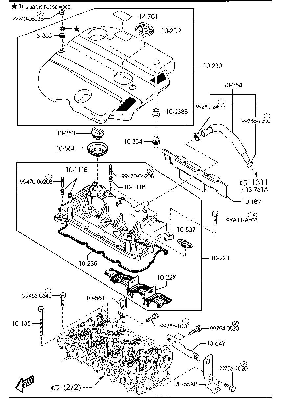 Kp Gasket Mazda 6 2 2 Diesel Engine Gasket
