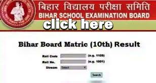 Bihar board metric exam check