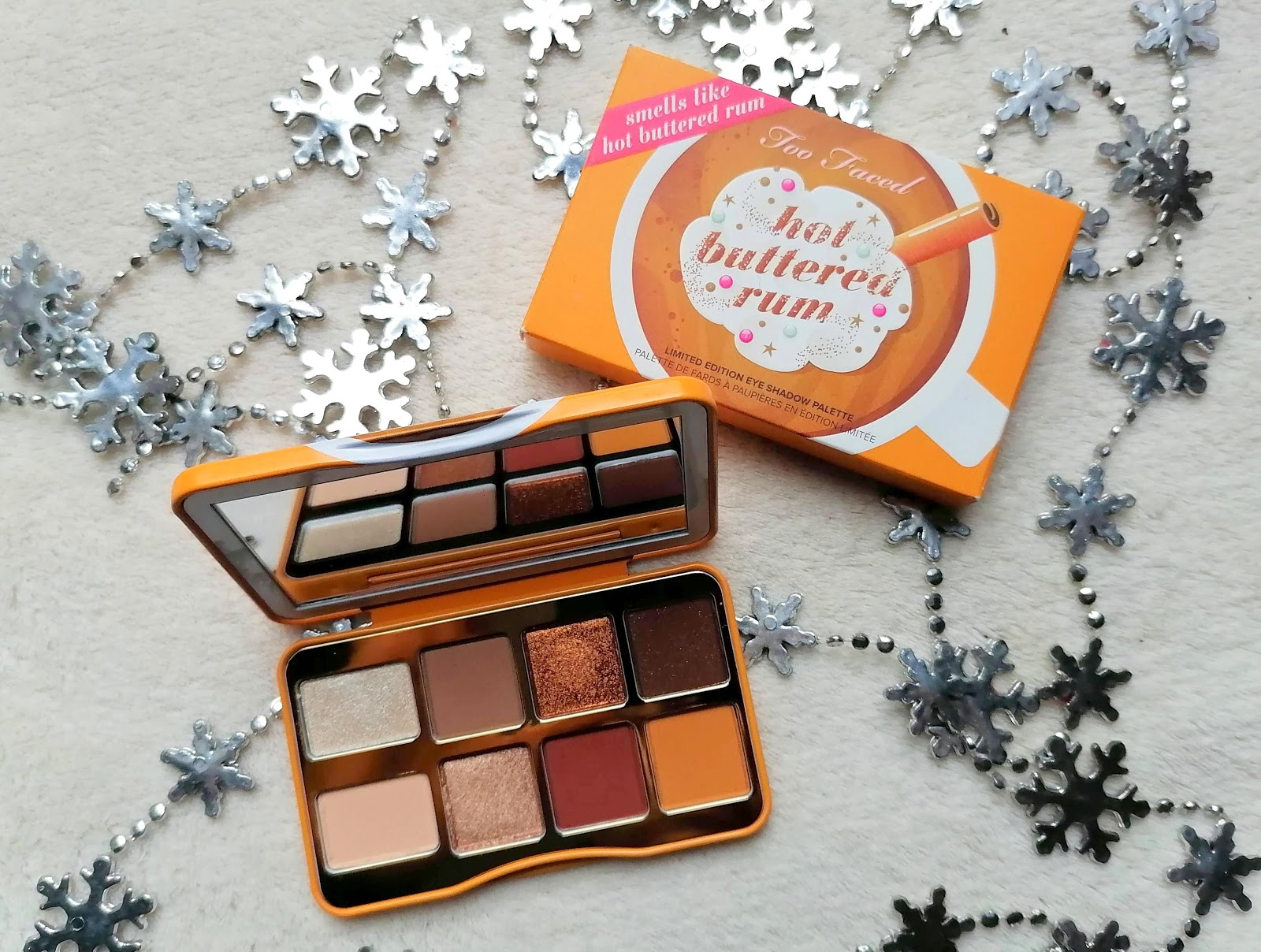 Hot Buttered Rum palette de TOO FACED (swatch)