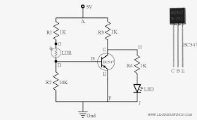 Funny Electronics: Circuit to Turn On an LED During Night