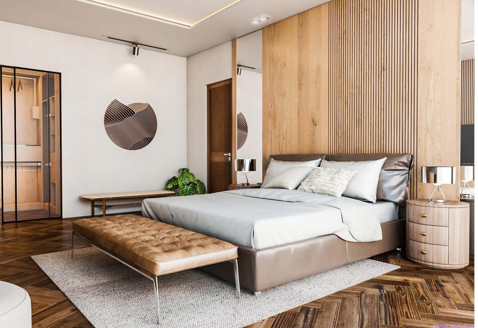 Phối cảnh phòng ngủ cực kỳ sang chảnh