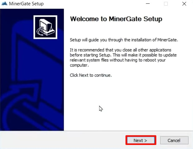 MinerGate download and installation tutorial for Windows