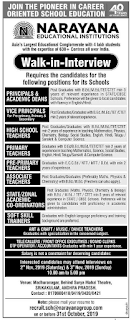 Narayana Schools Srikakulam District Jobs: