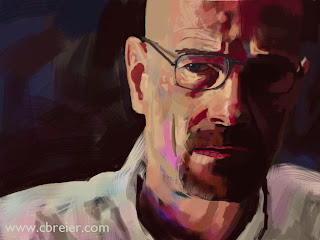 Drawing of Bryan Cranston from Breaking Bad.