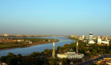 The White Nile and Blue Nile meet where in Sudan?