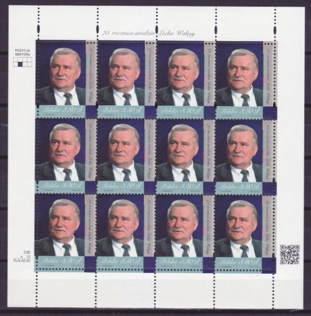 Poland 2013 Sheet - 2013 70th Anniversary of Lech Walesa