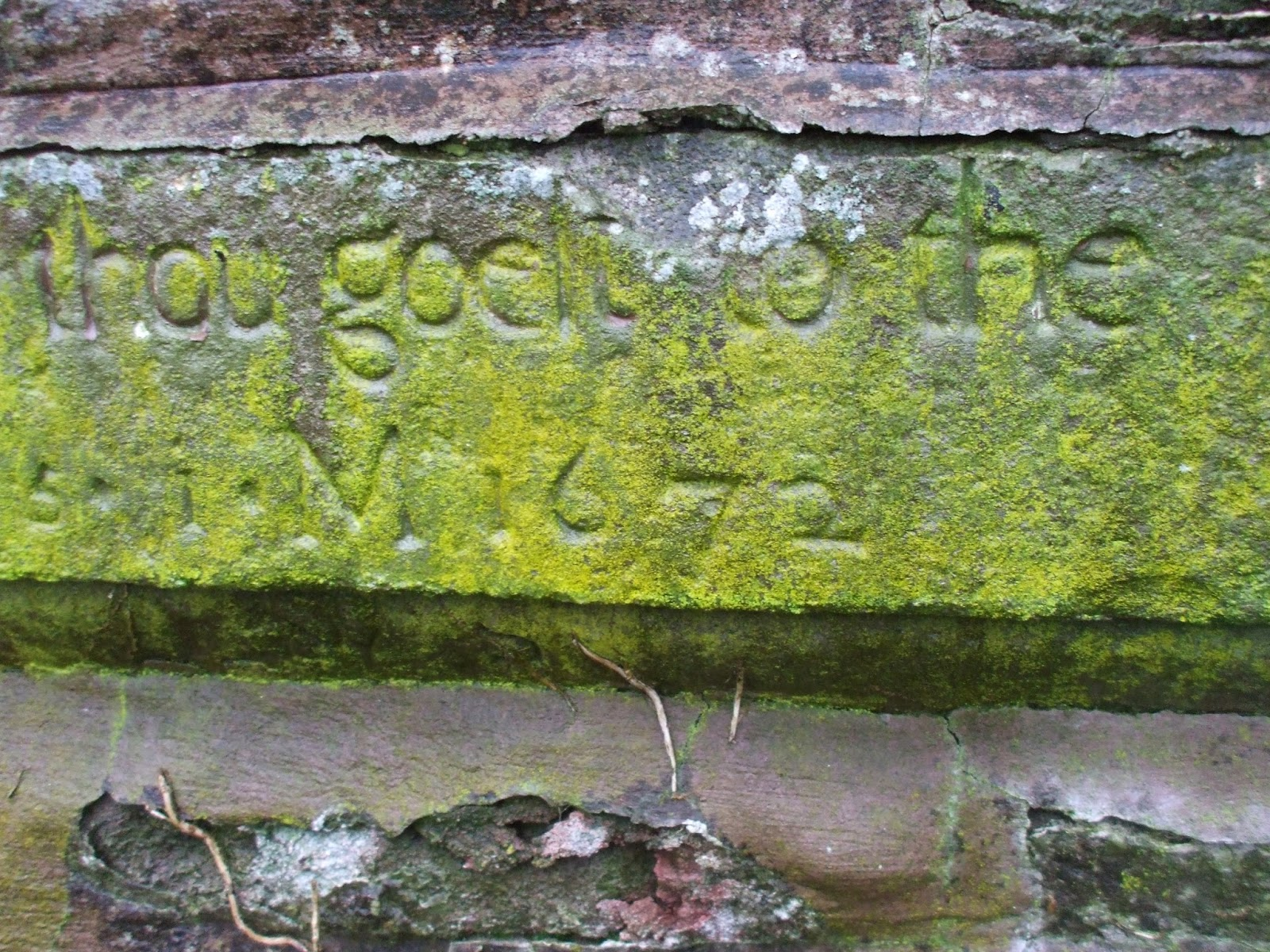 inscription clunie church 19/01/14 sea penguin