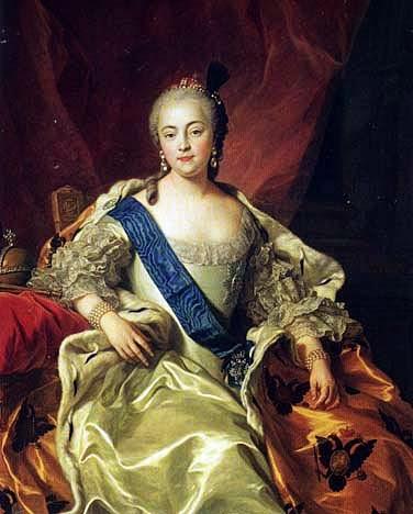 Empress Elizabeth Petrovna by Charles-André van Loo, 1760