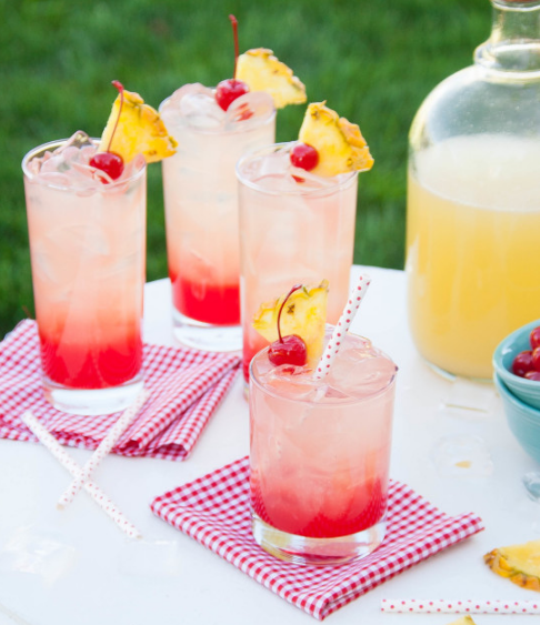 Cherry Pineapple Lemonade #drink #cocktail #smoothie #lemonade #party