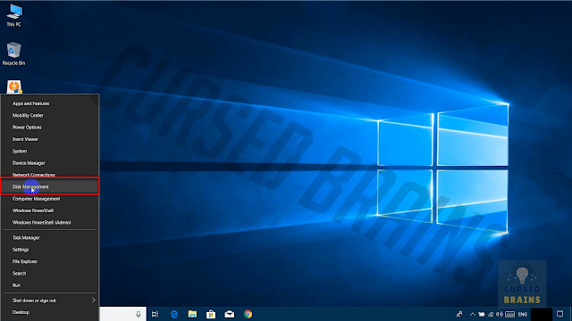 Phoenix OS - Disk management right click start menu