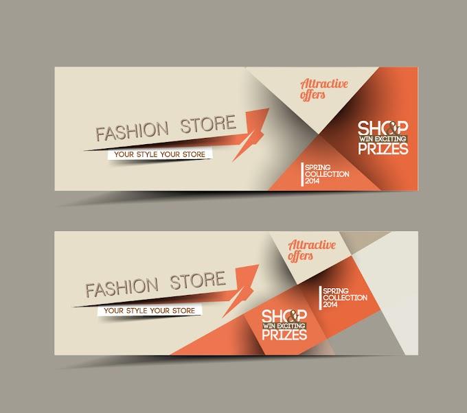Vector web banners creative design graphics set Free vector