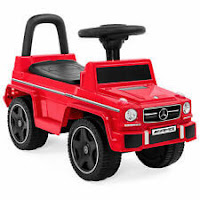 BCP Kids Luxury Mercedes G63 Convertible Foot-to-Floor Push Car Ride- On Buggy