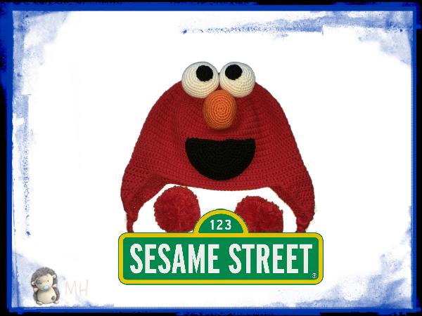 Elmo de Barrio sésamo a crochet