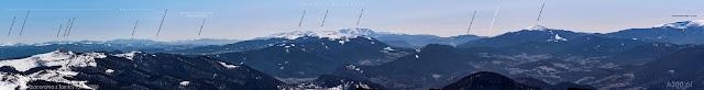dalekie obserwacje gór - Fragment panoramy z Tarnicy