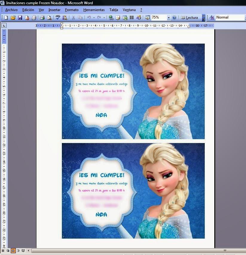 invitacion cumpleaños frozen blog infantil noa y lula