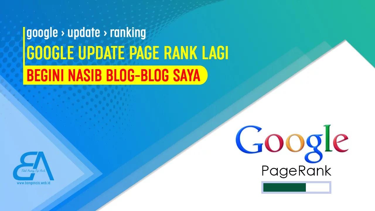 Google Update Page Rank Lagi