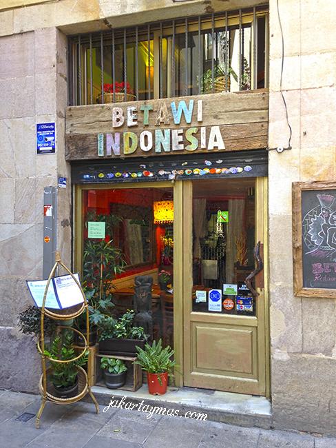 El restaurante Betawi en Barcelona