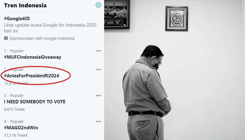 Tak Terbendung! Seharian #AniesForPresidenRI2024 Duduki Trending Topic
