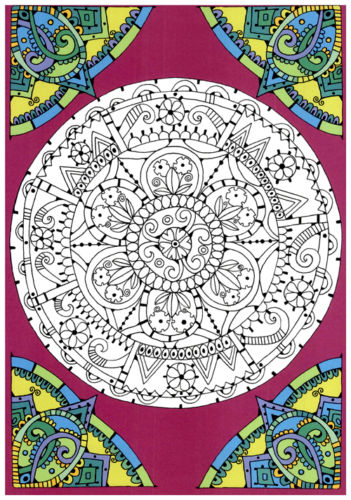 The Mandala Coloring Book For Adult Children Colouring Painting Therapy