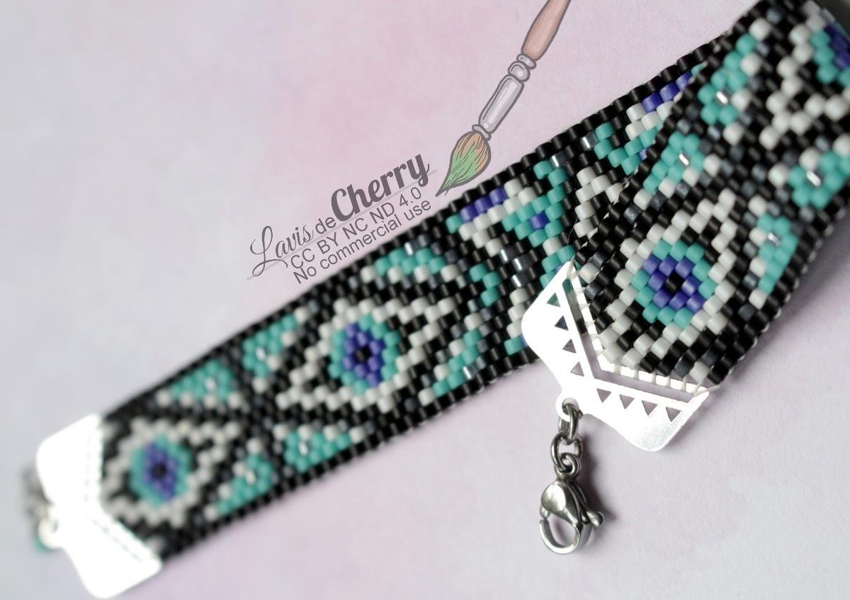 bracelet-perles-miyuki-beads-oeil-eye-geometrique-lavisdecherry