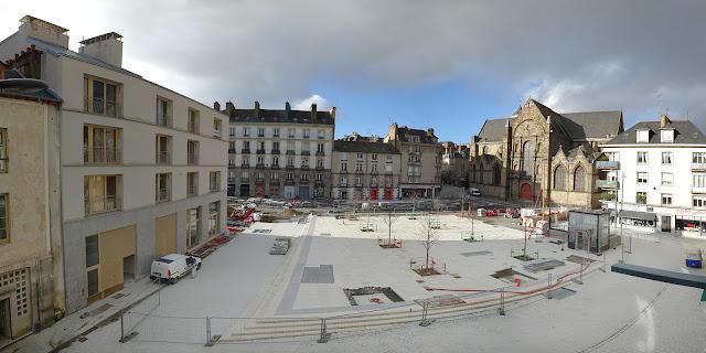 Panoramique de la Place Saint-Germain (23 Décembre 2020)