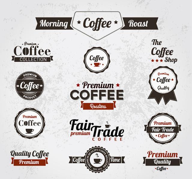 vector trang trí quán cà phê