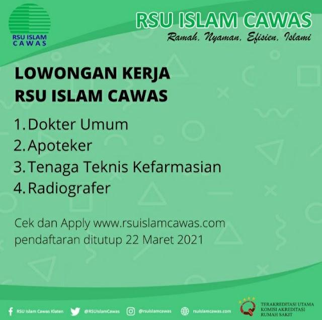 Loker Dokter RSU Islam Cawas Klaten Jawa Tengah