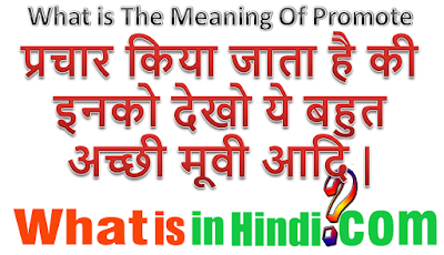 What is the meaning of Promote in Hindi