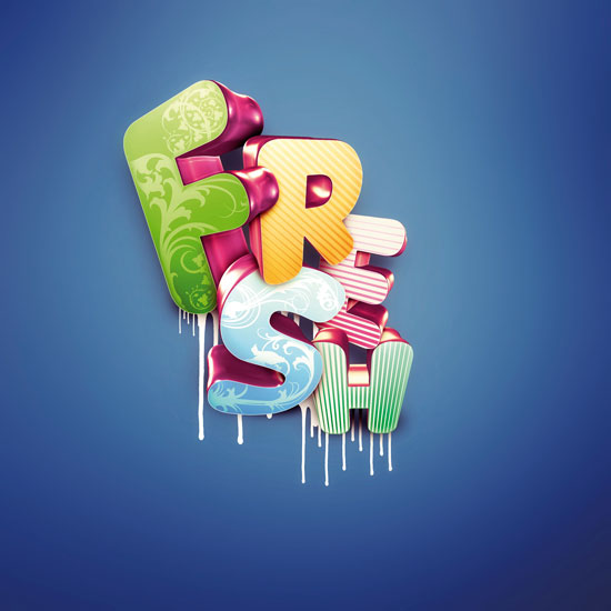master 3d type text efect photoshop