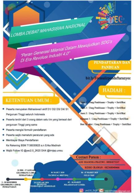 Lomba Debat Nasional 2020 di Universitas Muhammadiyah Sumatera Utara