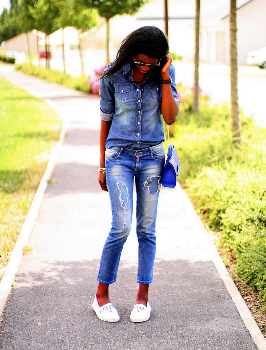 espadrilles-kenzo-mini-sac-furla-jeansdechire-zara-chemise-jeans-hm-larsson-jennings-montre-blog-mode