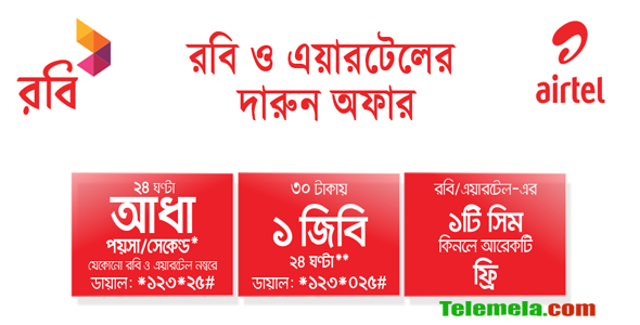Robi airtel Merger Bonanza Offer