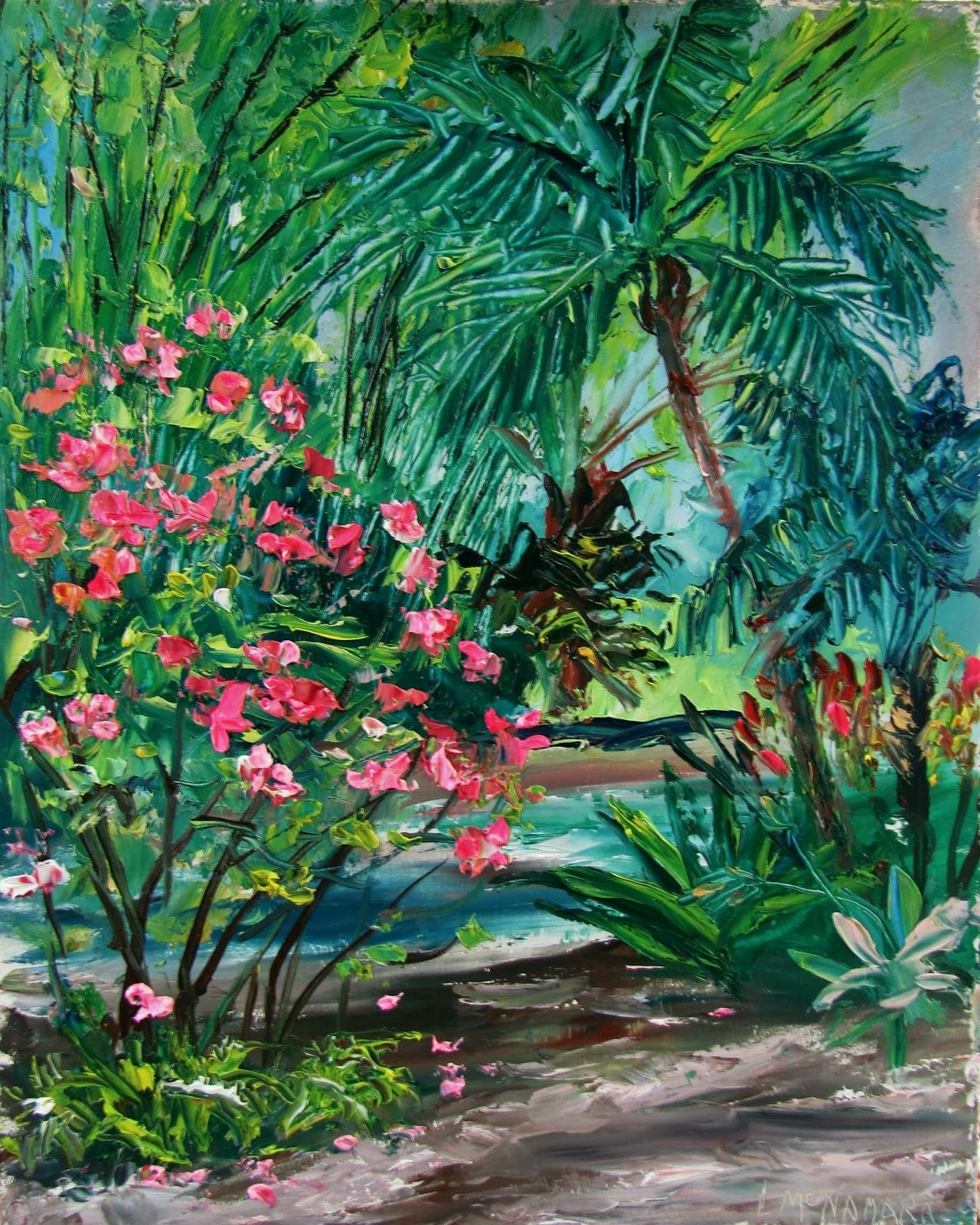 Heathcote Botanical Gardens: Lori's Stormy Art And Daily Paintings: 1593 SOLD Azaleas
