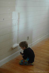 painting plank wall