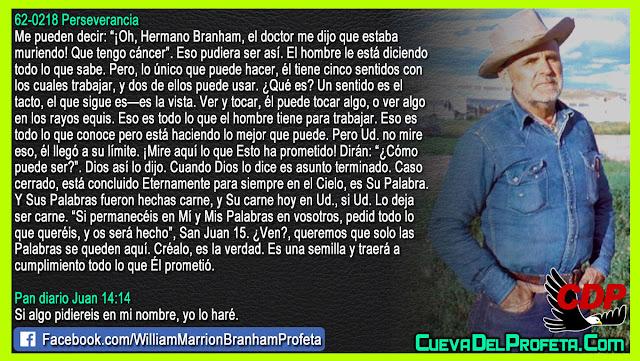 El doctor me dijo que tengo cáncer - William Branham en Español