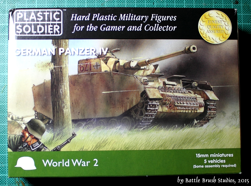 Battle Brush Studios: Review: 15mm Panzer IV by Plastic