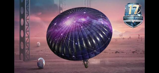 Galaxy Theme Parachute skin pubg Mobile