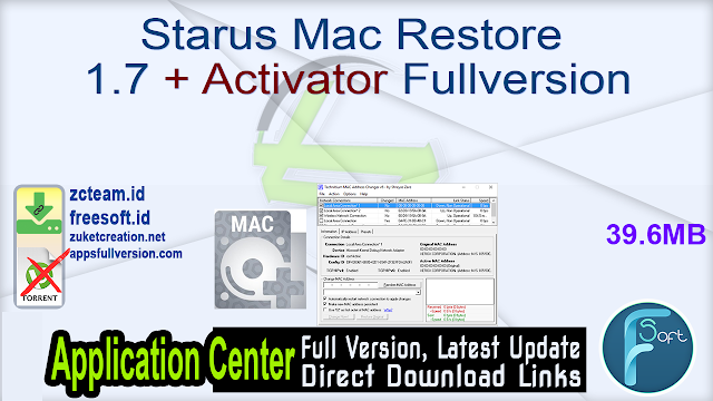 Starus Mac Restore 1.7 + Activator Fullversion