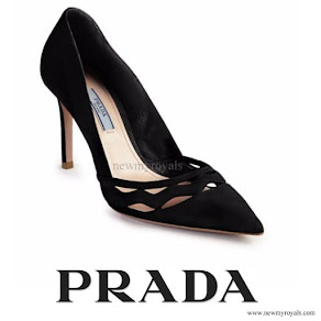 Kate Middleton wore Prada Suede Cutout Wave Pumps
