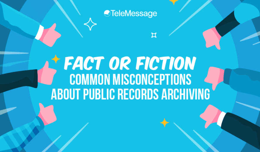 Fact or Fiction – Common Misconceptions About Public Records Archiving #infographic